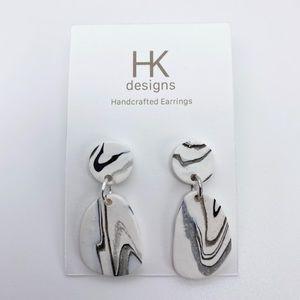 Cute Marble Handmade Earrings